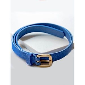 Accessories - •||NEW||• SKINNY GOLD BUCKLE BELT – BLUE